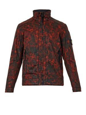 Raso Gommato camouflage jacket