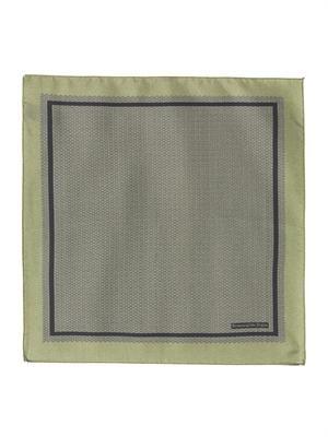 Woven-print silk pocket square