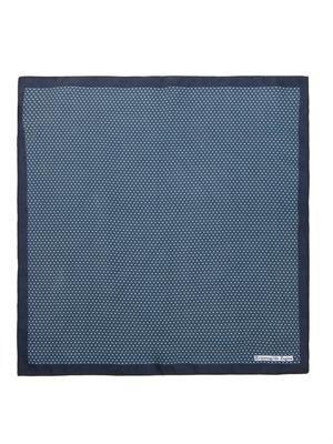 Circle-print silk pocket square