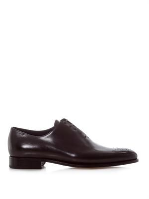 Punch-toe derby shoes