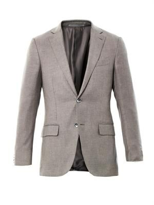 Milano bird's-eye two button blazer