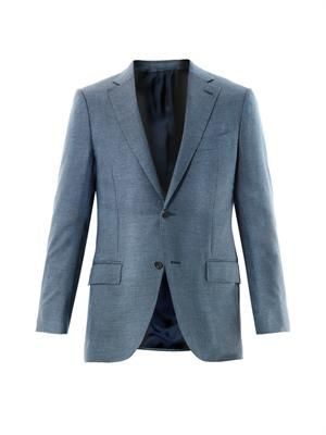 Milano bird's-eye weave blazer
