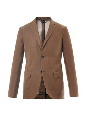 Cotton and silk-blend blazer