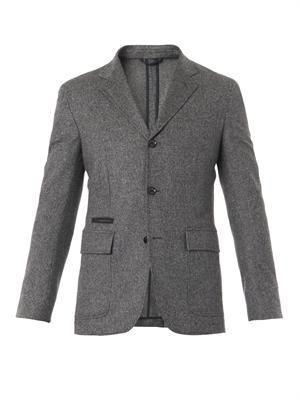 Bird's-eye weave wool blazer
