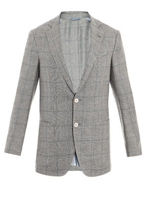 Sage and blue Prince of Wales check jacket