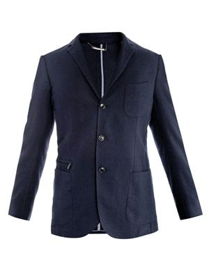 Elbow-patch blazer