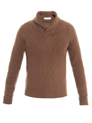 Shawl-collar jumper