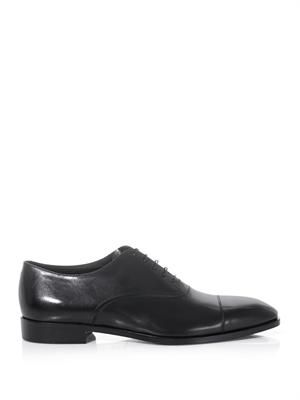 Smooth leather oxford shoes