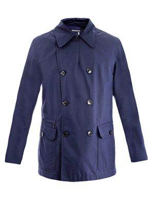 Water-repellent pea-coat