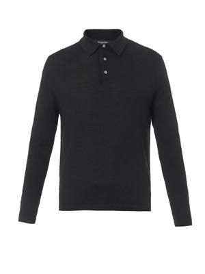 Waffle-knit polo shirt
