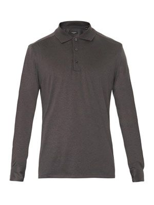 Silk-jersey polo shirt