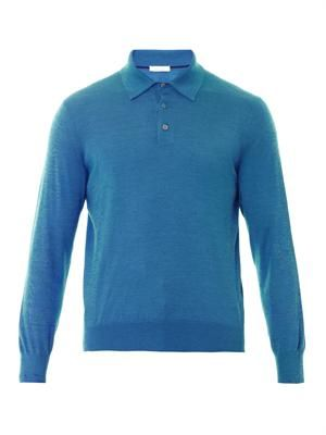 Long sleeved cashmere sweater