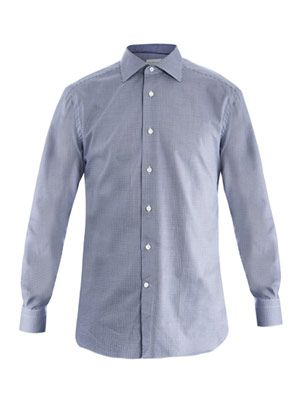 Rossini-fit Houndstooth shirt
