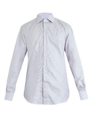 Rossini-fit bow check shirt