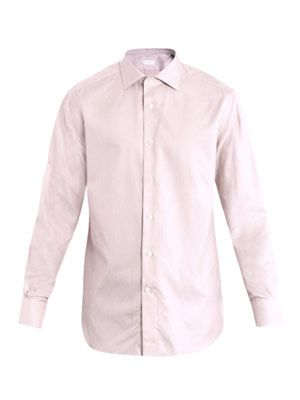 Rossini solid small weave shirt