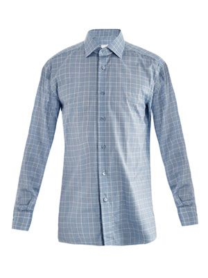 Rossini Prince of Wales check shirt