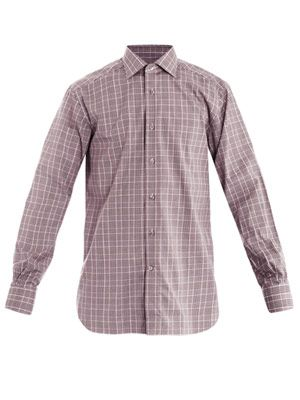 Rossini-fit check shirt