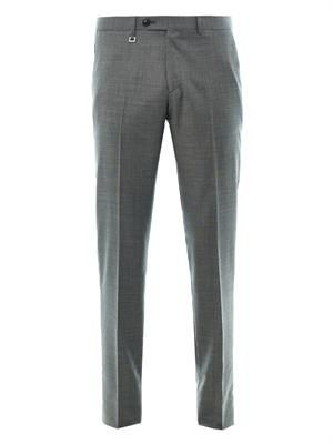 Pin dot-weave wool trousers