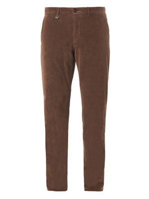 Micro-corduroy trousers