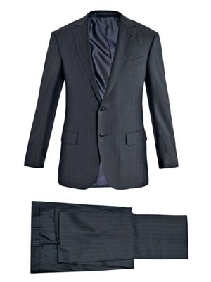 Milano 2 subtle-stripe suit