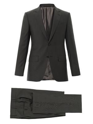 Ghost stripe two-button suit