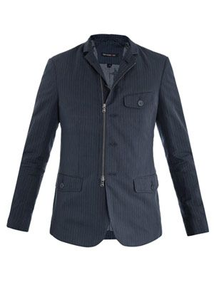 Pinstripe zip up  jacket