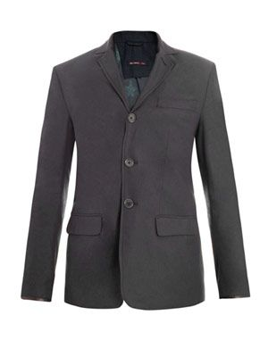 Notch lapel single-breasted jacket