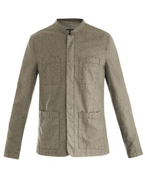 Patch pocket linen jacket