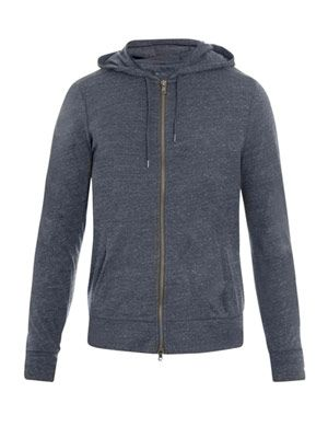 Hooded zip-up top