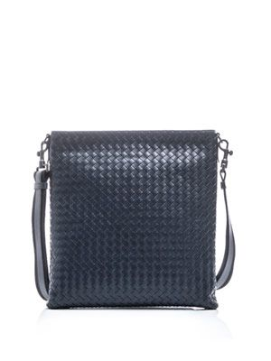 Intrecciato woven cross-body bag
