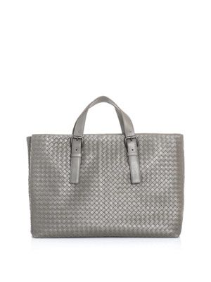 Intrecciato woven large shopper bag