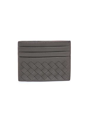 Intrecciato woven card holder