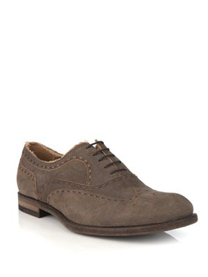 Distressed brogues