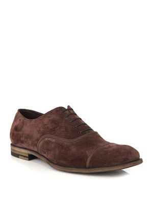 Suede and grosgrain shoes