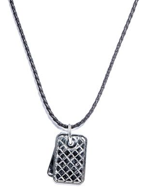Woven pendant leather necklace