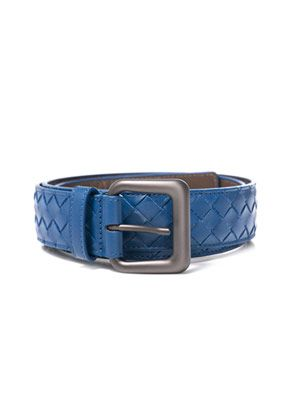 Intrecciato woven leather belt