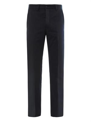 Washed gabardine chino trousers