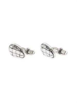 Intrecciato-engraved silver cufflinks