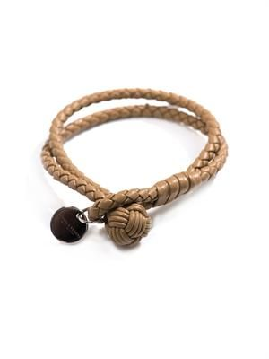 Double woven-leather bracelet