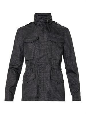 Intrecciolusion-print field jacket
