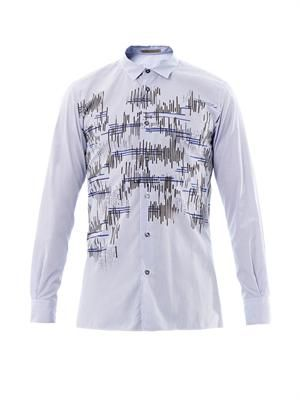 Artignal graphic-print check shirt