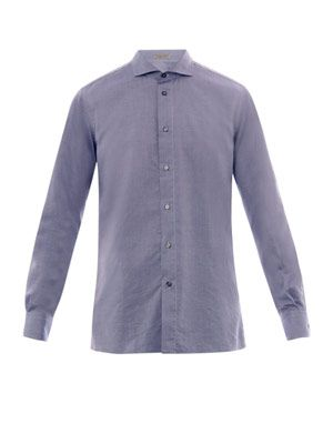 Chambray-cotton shirt