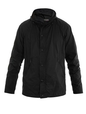 Hooded short parka coat