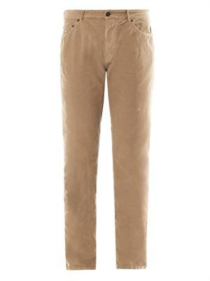 Slim-leg corduroy trousers