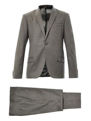 Sketch-trim wool suit