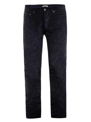 Washed corduroy trousers