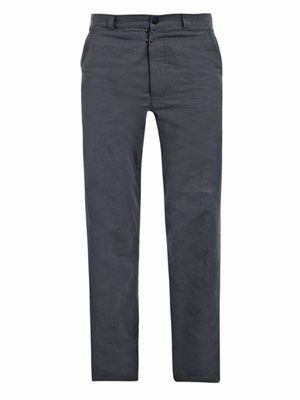 Compact ribbed cotton chino trousers