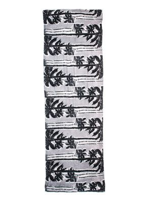 Palm tree-print scarf
