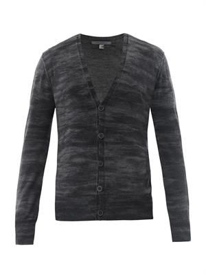 Super-fine merino-wool cardigan