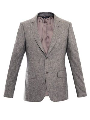 Cashmere wool single-breasted jacket